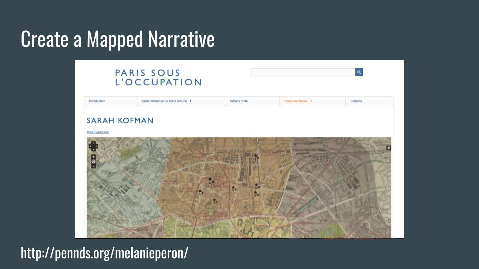 Create a Mapped Narrative