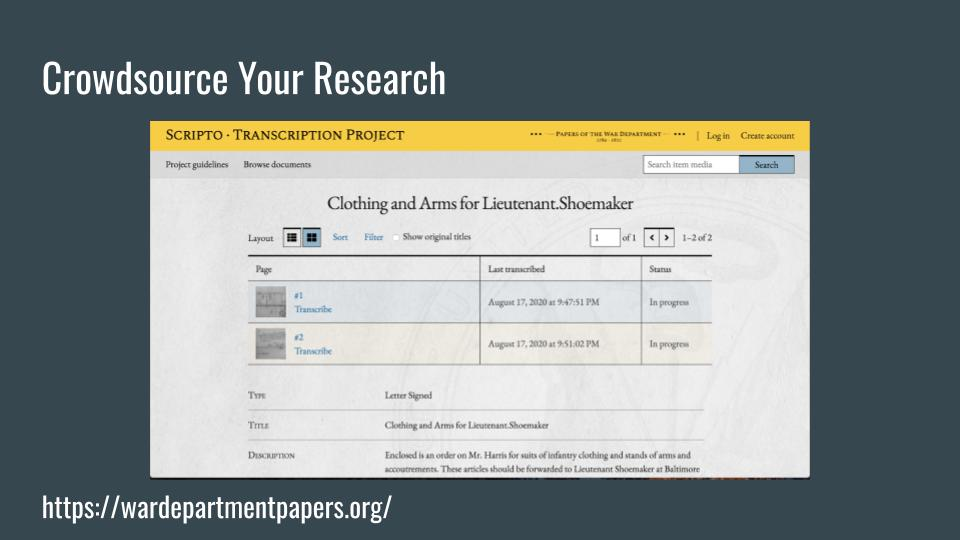 Crowdsource Your Research