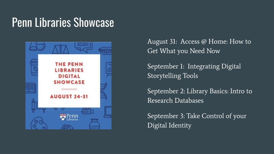 Penn Libraries Showcase