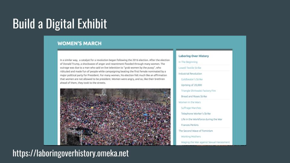 Build a Digital Exhibit