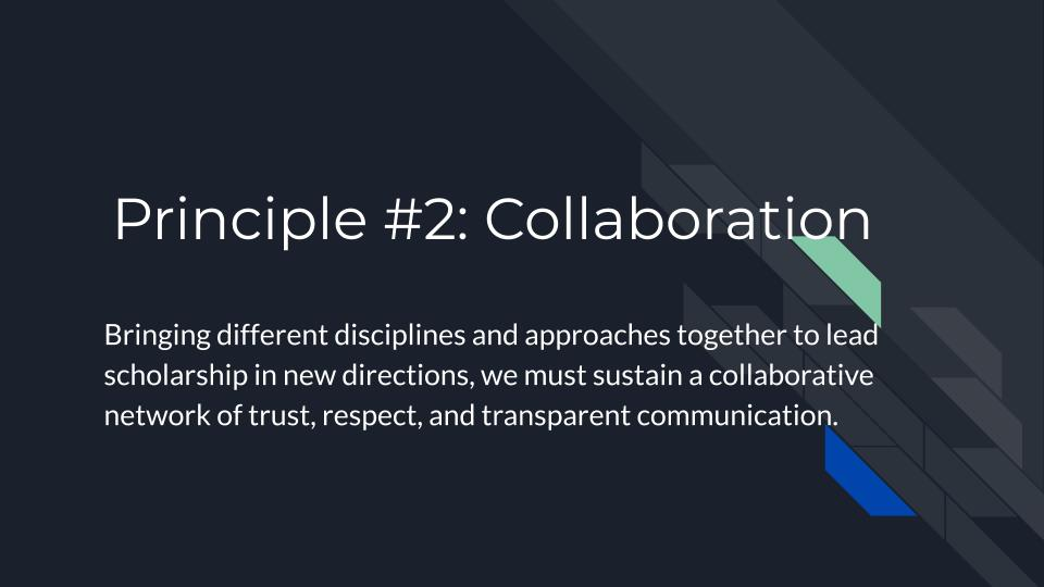 Principle 2: Collaboration